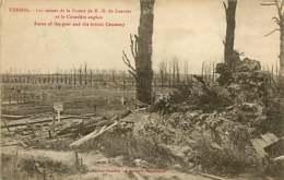 250419C - GUERRE MILITARIA BOMBARDEMENT - BELGIQUE KEMMEL Ruines De La Grotte ND De Lourdes Et Cimetière Anglais - Heuvelland