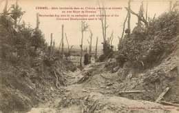 250419C - GUERRE MILITARIA BOMBARDEMENT - BELGIQUE KEMMEL Abris Bombardés Dans Un Chemin Creux état Major Division - Heuvelland