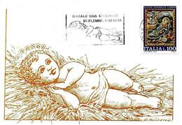 ITALIA - 1985 CHIVASSO (TO)  Betlemme D'Italia (fraz. Chivasso) Gesù Bambino - Annullo A Targhetta - Vacanze & Turismo