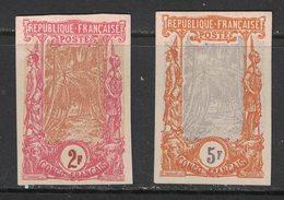 Congo - French Congo - Yvert 40-41 Essai Sur Papier Carton - Scott#48-49 On Hard Paper - French Congo (1891-1960)