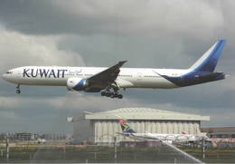 Kuwait Airways B777-300  9K-AOF At LHR B.777 - 1946-....: Era Moderna
