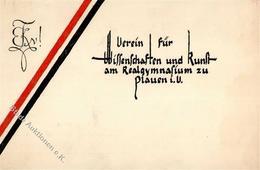 Studentika Plauen Verein Für Wissenschaft Und Kunst Realgymnasium II (Klebereste RS) - Sonstige