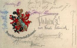 Studentika Prager Burschenschaft Teutonia Prägedruck 1914 I-II - Sonstige