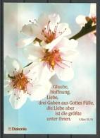 Deutschland Diakonie Postkarte Blüten Unbenutzt - Bäume