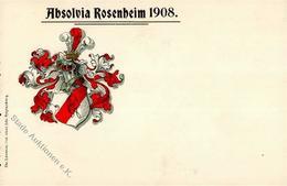 Studentika Rosenheim (8200) Absolvia 1908 I-II - Sonstige
