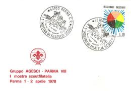 ITALIA - 1978 PARMA 1^ Mostra Filatelia Scout Su Busta Speciale - Francobolli
