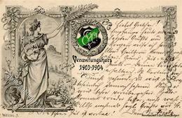 Studentika STUTTGART - Verwaltungskurs 1903-04 Sign. Weissel I - Sonstige