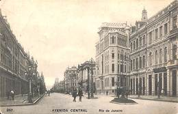 Rio De Janeiro - Avenida Central (animation, Ribeiro Travessa Ambrosina 1908 To Belgica Malines) - Rio De Janeiro
