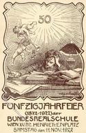 Studentika WIEN - 50 Jahrfeier 1922 Sign. Künstlerkarte I - Sonstige
