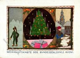 Studentika WIEN - WEIHNACHTSKARTE 1936 Sign. Hein Ecke Gestoßen! - Sonstige