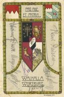 Studentika Würzburg (8700) Walhalla Eule I-II (Marke Entfernt, Fleckig) - Sonstige