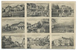 CARTE POSTALE MONTARGIS LOIRET / 9 VUES / 1915 / POSTES RASSEMBLEMENT N°22 / FRANCHISE MILITAIRE - Montargis