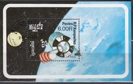 KAMBODSCHA 1988 - MiNr. 953  Block 160 - Raumfahrt