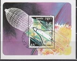 KAMBODSCHA 1990 - MiNr. 1184  Block 179 - Raumfahrt