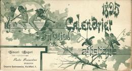 """3388 """"1895-CALENDRIER MUSICAL ARTISTIQUE""""OMAGGIO AI CLIENTI DELL'EMPORIO GASTRON. BAIARDINI-TORINO-14 PAG.  ORIGINALE - Calendari"""