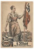 "OLD POSTCARD - FELDPOSTKARTE  :"" 1 MAI - TAG DER NATIONALEN URBEIT  , 1934 . - Duitsland"