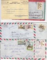 Portugal -Angola -7 Envelopes + 3 Aerogramas - Angola