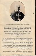 Faire-Part Décès De L'abbé Jules LEMOINE Curé D'Aunay Sur Odon 1908/1938 - Avvisi Di Necrologio