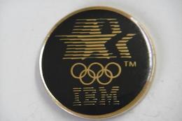 Pin's - Informatique IBM Aux Jeux Olympiques - Informatique