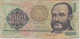 BILLETE DE PERU DE 1000 SOLES DE ORO DEL AÑO 1976 (BANKNOTE) - Peru