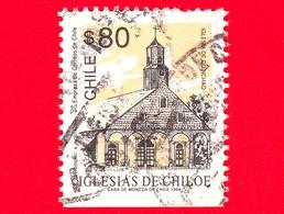 CILE  - CHILE - Usato - 1994 - Chiese - Iglesias - Chiloe - Quinchao - 80 - Cile