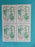 TIMBRE : No: 5235 , MARIANNE Et La JEUNESSE,surchargées 2013-2018 Bloc De 4, XX,timbres En Bon état - 2013-... Marianne (Ciappa-Kawena)