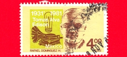 MESSICO - Usato - 1981 - 50 Anni Della Morte Di Thomas Alva Edison - 4 - Messico