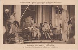CPA Yokohama - Dames De Saint-Maur - Le Maréchal Joffre Causant Avec La Supérieure Mère-Louise (jolie Scène) - Yokohama