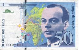 BILLETE DE FRANCIA DE 50 FRANCS DEL AÑO 1997  (BANKNOTE) EXUPERY - 1992-2000 Ultima Gama