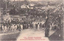 CPA AFRIQUE OCCIDENTALE FRANCAISE - ABOISSO (CÔTE-D'IVOIRE) : JARDIN DE LA RESIDENCE UN JOUR DE FÊTE - Ivory Coast