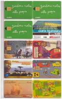 10 Télécartes Diverses. Afrique. Maroc.  Italie.  Parkings. Avephone. Avec Et Sans Puces. - Phonecards