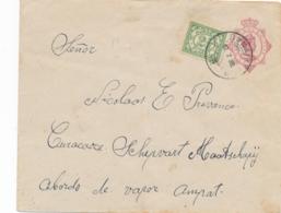 Curacao - 1922 - 5 Cent Wilhelmina In Ovaal, Envelop G12 + 2,5 Cent Van KB BONAIRE Naar KB Curacao - Curaçao, Antilles Neérlandaises, Aruba
