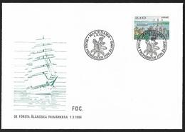 1984 - ALAND - FDC + Michel 7 [Mariehamn] + MARIEHAMN - Aland