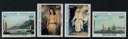 Polynésie Française // Poste Aérienne // 1981Peinture Du 18ème Siècle Timbres Neufs** MNH Y&T No.163-166 - Neufs