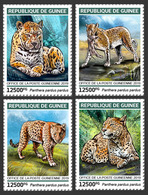 GUINEA 2018 - Leopards, 4v. Official Issue - Félins