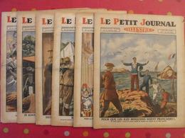 """6 N° """"le Petit Journal Illustré"""" Août-septembre 1929. Iles Minquiers Frères Siamois Scouts Jamboree Palestine Juifs - Books, Magazines, Comics"""