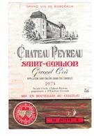 Rare Etiquette De Vin // Bordeaux // Château Peyreau // Saint-Emilion Grand Cru // 1973 - Bordeaux