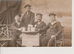 CARTE PHOTO - MARINS DES BATIMENTS : SMS LOTHRINGEN + TORPEDO DIVISION + SMS WITTELSBACH - War 1914-18