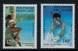 Polynésie Française // Poste Aérienne // 1989 Environnement Polynésien Timbres Neufs** MNH Y&T No.331-332 - Polynésie Française