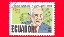 ECUADOR - Usato - 1992 - 100 Anni Della Nascita Di ANDRES F. CORDOVA - 300 - Ecuador