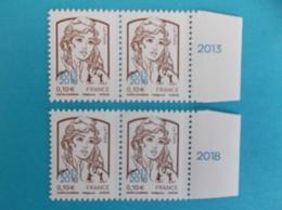 TIMBRE : No:5234 , MARIANNE Et La JEUNESSE,surchargée 2013-2018 Bloc De 2 Bord De Feuille,,XX,timbres Bon état - 2013-... Marianne De Ciappa-Kawena