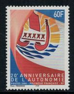 Polynésie Française // Poste Aérienne // 2004 20ème Anniversaire De L'autonomie Timbres Neufs** MNH Y&T No.722 - Polynésie Française