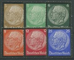 Deutsches Reich 1934 Tod Hindenburgs 548/53 Ohne Gummierung (R17283) - Deutschland