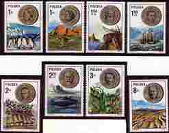 POLAND 1973 Mi 2281 - 2288 Polish Scientists, Antarctica Penguin, Australia Kangaroo, Andes Chile MNH** W1231 - Geografia