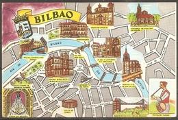 Cpsm Bilbao (espagne) Plan De La Ville (bon Etat) - Espagne