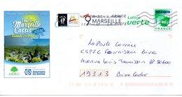 Entier Postal PAP L'autre Marseille Cassis Randonnée Pédestre Dans Le Massif Des Calanques - Entiers Postaux