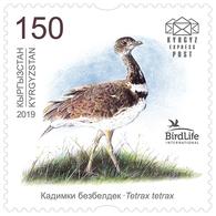 H01 Kyrgyzstan 2019 Mi# 129 Birds Little Bustard Vögel MNH - Kirgisistan