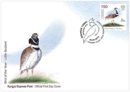 H01 Kyrgyzstan 2019 Mi# 129 Birds Little Bustard Vögel ETB FDC - Kirgisistan