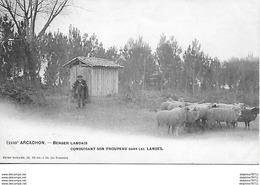 Arcachon - Berger Landais Conduisant Son Troupeau Dans Les Landes - Arcachon