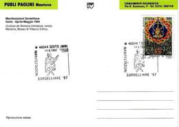 ITALIA - 1997 GOITO (MN) Manifestazioni Sordelliane (suonatore Di Liuto) Su Cartolina Speciale - Francobolli